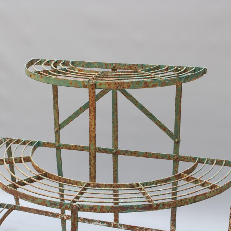 French Provincial French Half-Moon Plant Stand, circa 1900-1920 For Sale