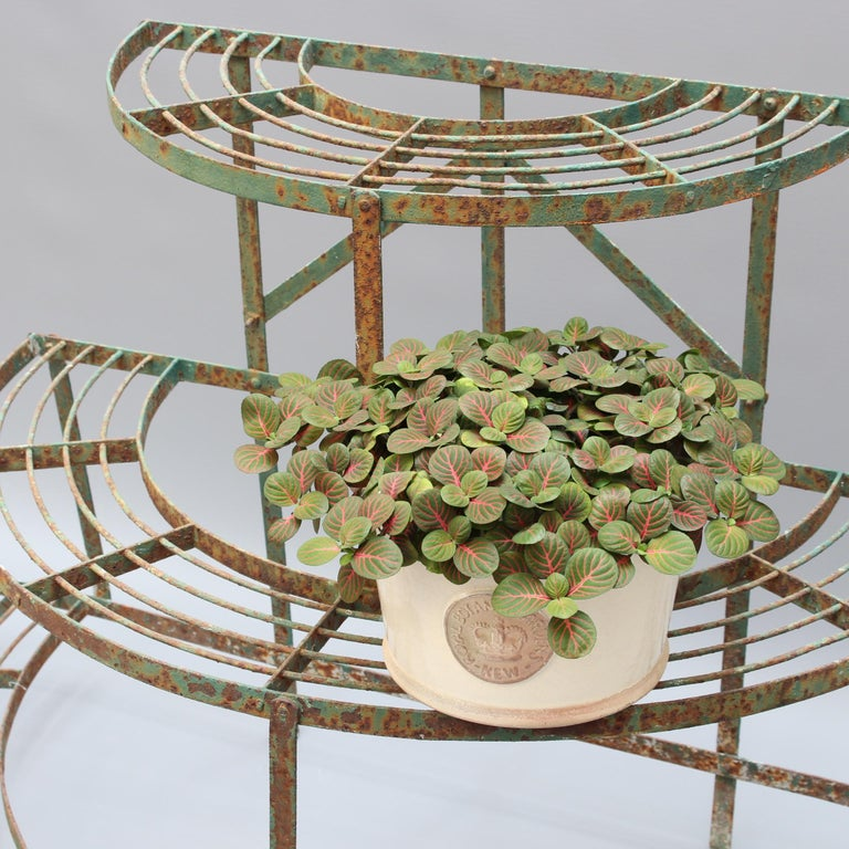 French Half-Moon Plant Stand, circa 1900-1920 In Fair Condition For Sale In London, GB
