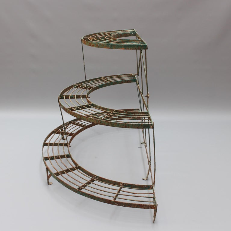 French Half-Moon Plant Stand, circa 1900-1920 For Sale 1