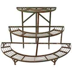 French Half-Moon Plant Stand, circa 1900-1920