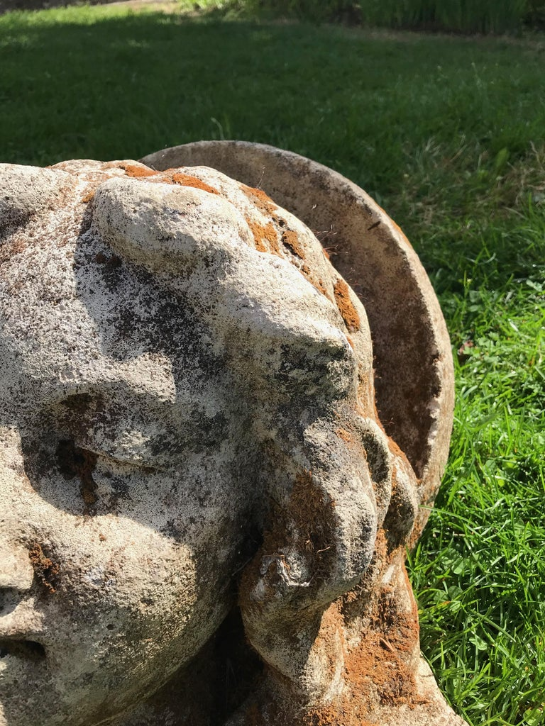 French Hand Carved Stone Head of the Virgin from the Croix Rouge, Lyon, France In Good Condition For Sale In Woodbury, CT