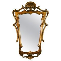 Antique French Hand Made Folk Art Gilt Mirror 1920