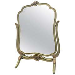 French Hand Painted Vanity Mirror