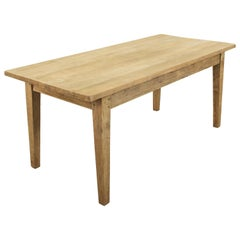 French Hand Pegged Oak Farm Table or Dining Table circa 1900, Seats Six