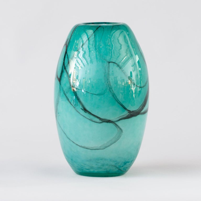 French Handblown Glass Vase, Early 21st Century For Sale 6
