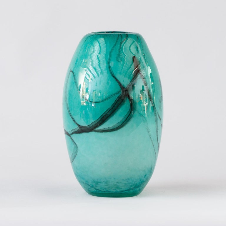 French Handblown Glass Vase, Early 21st Century For Sale 7