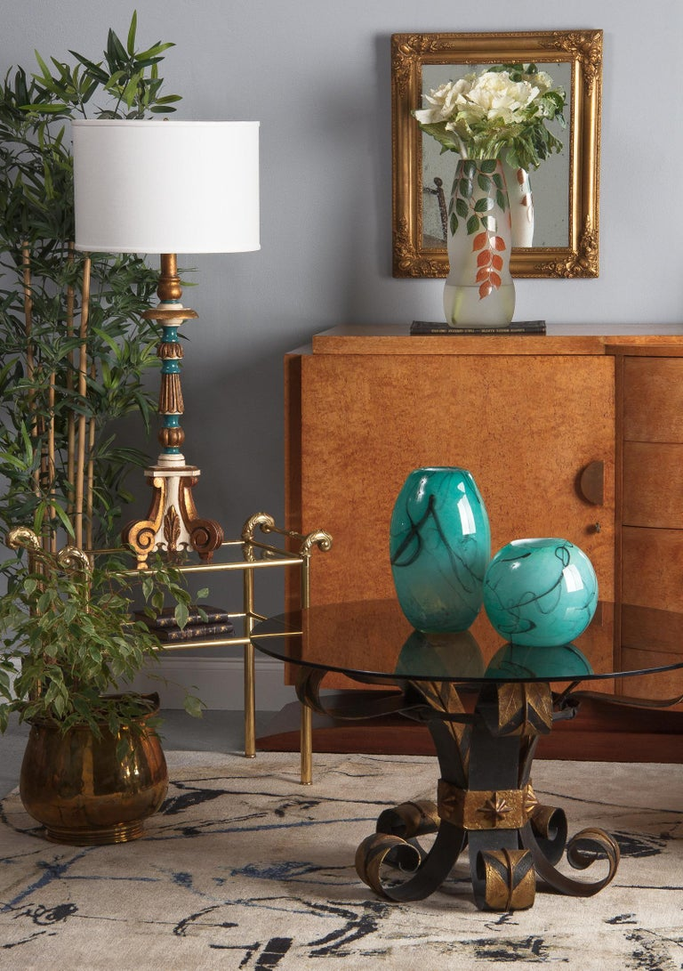 French Handblown Glass Vase, Early 21st Century For Sale 10