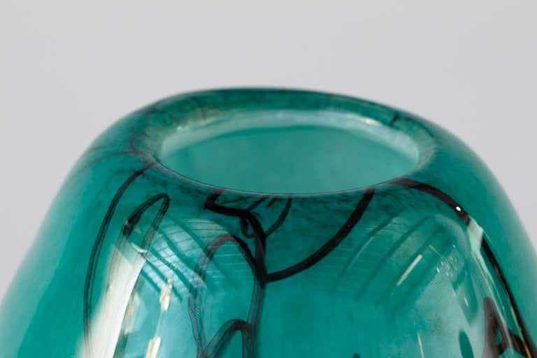 Modern French Handblown Glass Vase, Early 21st Century For Sale