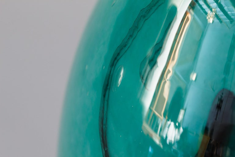 French Handblown Glass Vase, Early 21st Century In Good Condition For Sale In Austin, TX