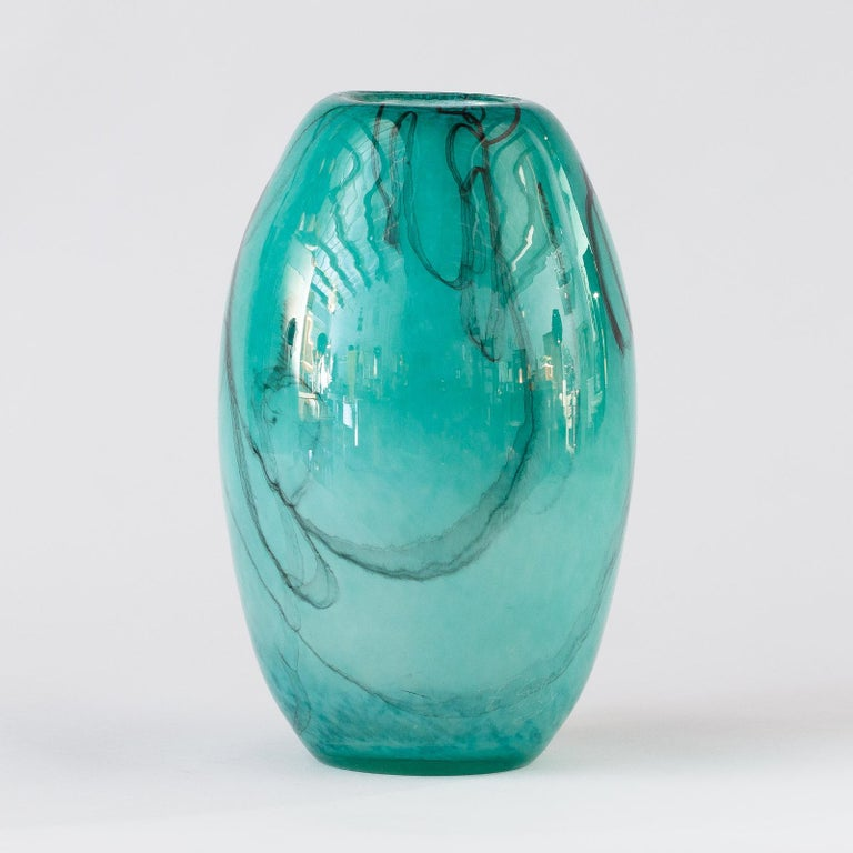 French Handblown Glass Vase, Early 21st Century For Sale 1