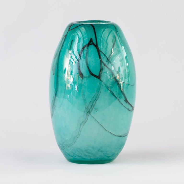 French Handblown Glass Vase, Early 21st Century For Sale 2