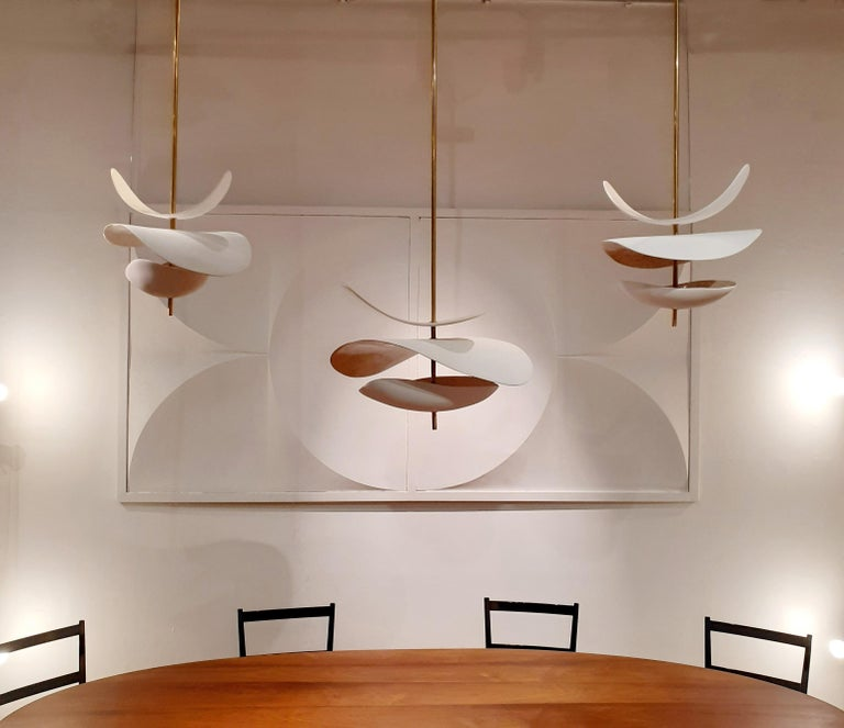 Contemporary French Handmade Ceramic Ceiling Lamp For Sale