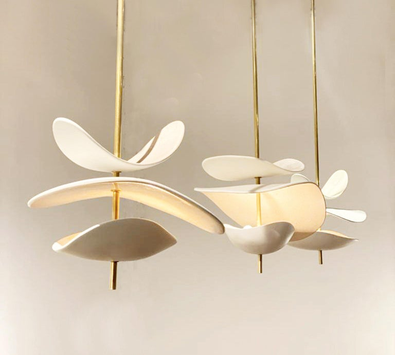 French Handmade Ceramic Ceiling Lamp For Sale 2