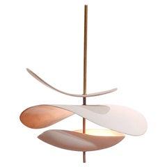 French Handmade Ceramic Ceiling Lamp