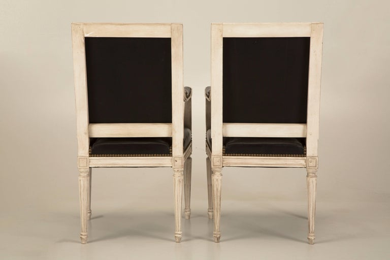 From the Old Plank Collection, comes a Louis XVI style dining chair, made in France, by an elderly gentleman, who has been crafting French dining chairs his entire life. Our French Louis XVI style chairs are available in the flat, as we like to call