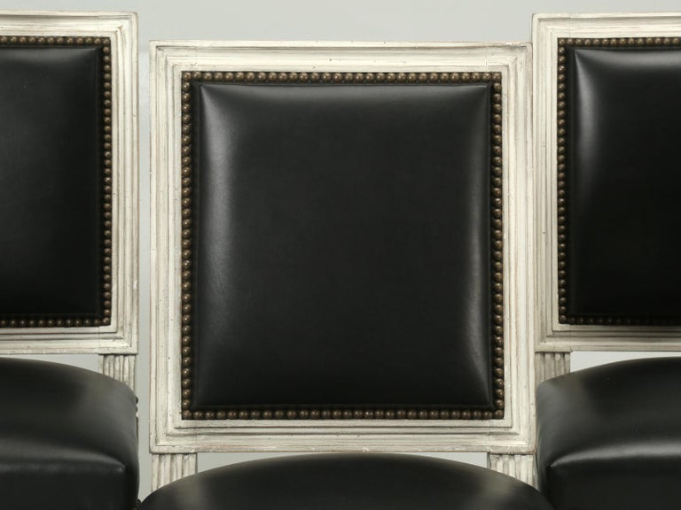 """We at Old Plank, have been forever trying to locate a """"comfortable, by American standards"""" Louis XVI side chair. The French Louis XVI style chair you see listed here, was copied from an original circa 1800s French Louis XVI chair, from Chateau de I'"""