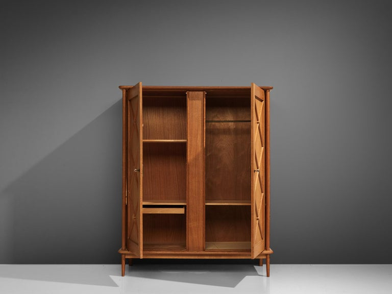 Mid-20th Century French Highboard in Oak, 1960s
