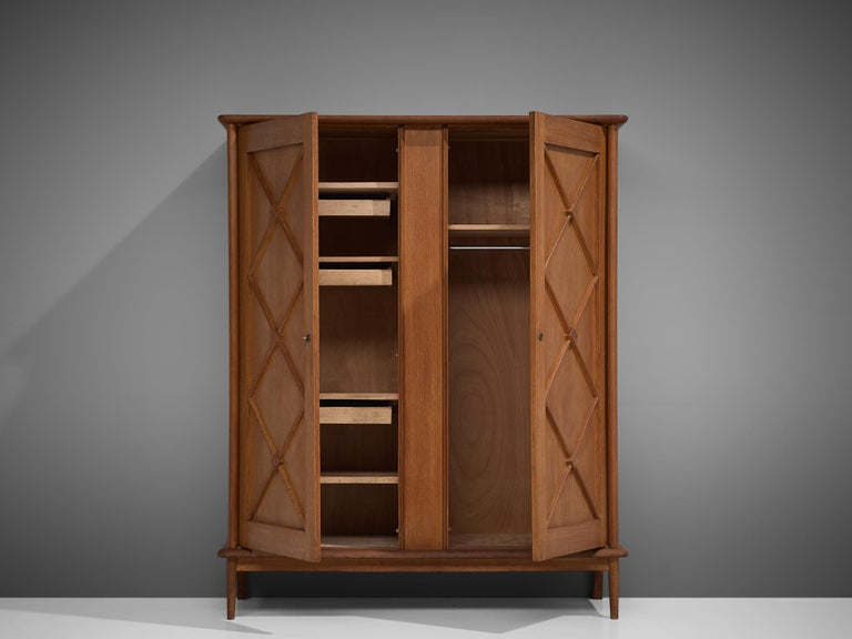 Mid-20th Century French Highboard in Oak For Sale