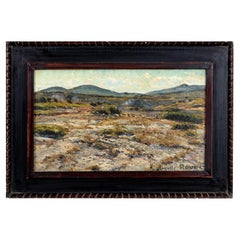 French Impressionist Landscape Oil on Canvas by Auguste Roure