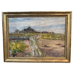 French Impressionist Landscape Oil Painting
