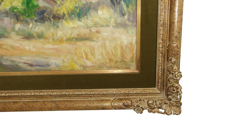 20th Century French Impressionist Landscape Painting, Signed Bret Andre, 1952 For Sale
