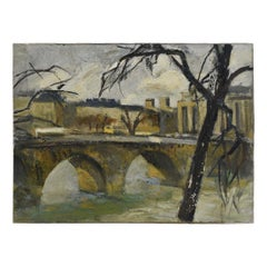 French Impressionist Oil-on-Canvas Painting