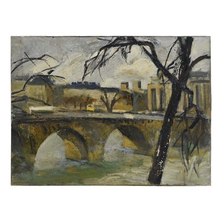 French Impressionist Oil-on-Canvas Painting For Sale