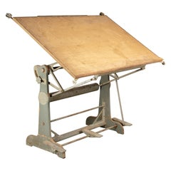 French Industrial Architect's Drafting Table by OZA