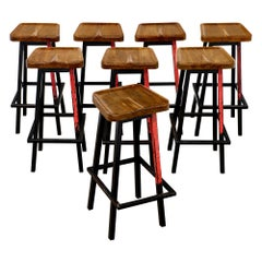French Industrial Bar Stools