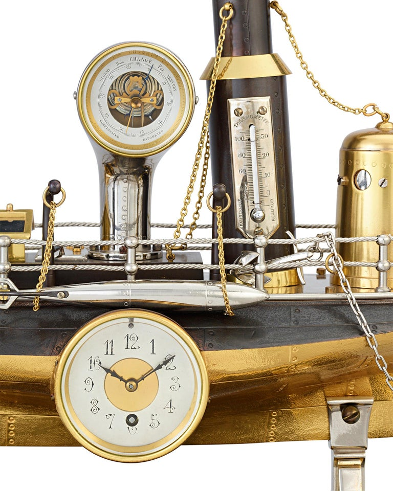 French Industrial Battleship Clock In Excellent Condition For Sale In New Orleans, LA