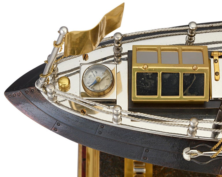 19th Century French Industrial Battleship Clock For Sale