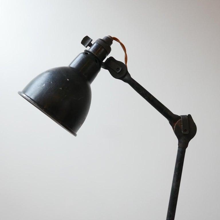 Metal French Industrial Bernard-Albin Gras Table Lamp For Sale