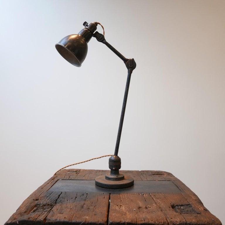 French Industrial Bernard-Albin Gras Table Lamp For Sale 2