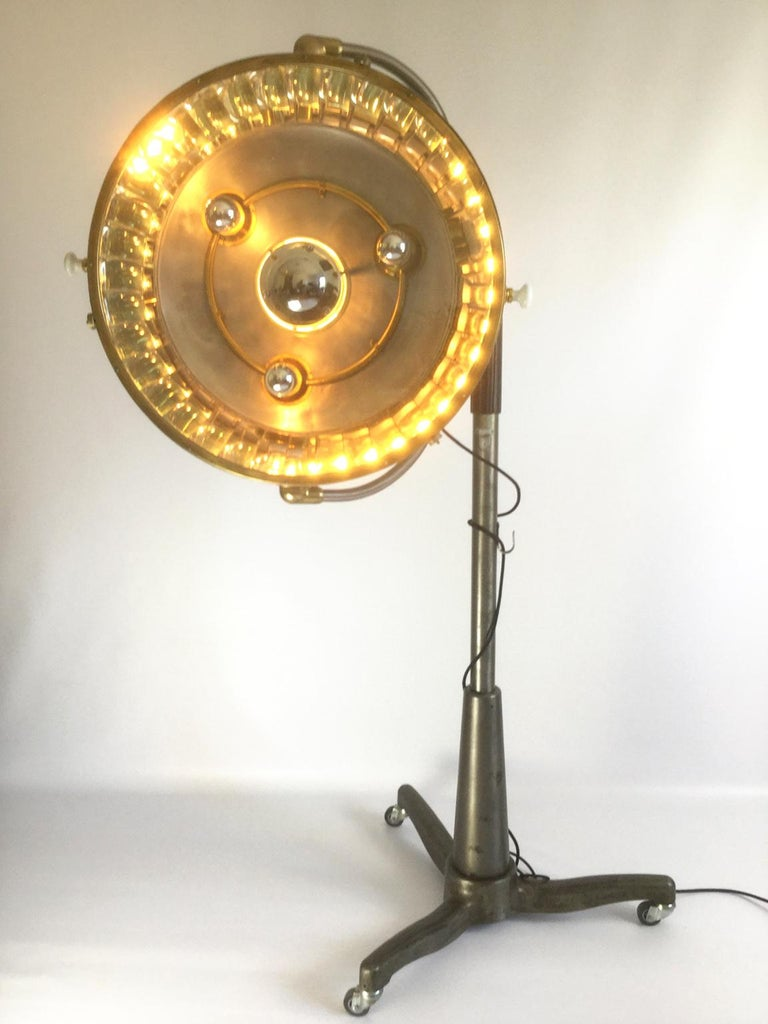1950s French Industrial Floor Lamp