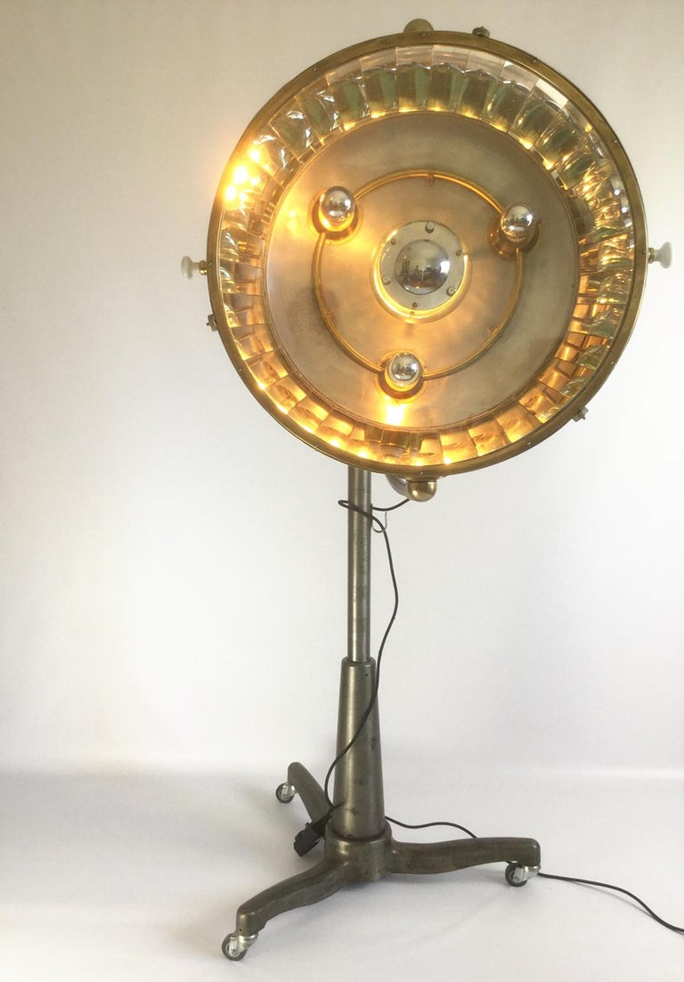 Metalwork 1950s French Industrial Floor Lamp