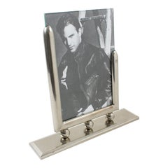 French Industrial Machine Age Chrome Picture Frame
