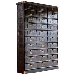 French Industrial Steel Cabinet by Strafor-Forges de Strasbourg, circa 1920