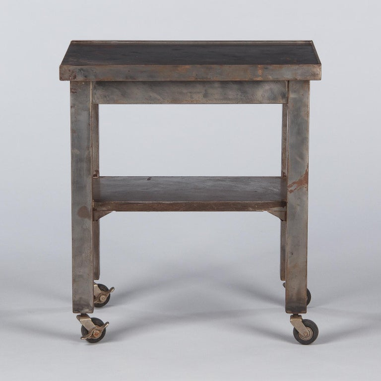 French Industrial Steel Working Table, 1950s For Sale 6
