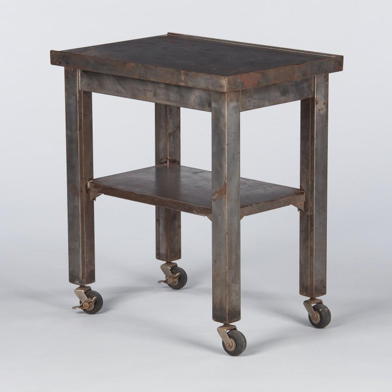 French Industrial Steel Working Table, 1950s For Sale 8