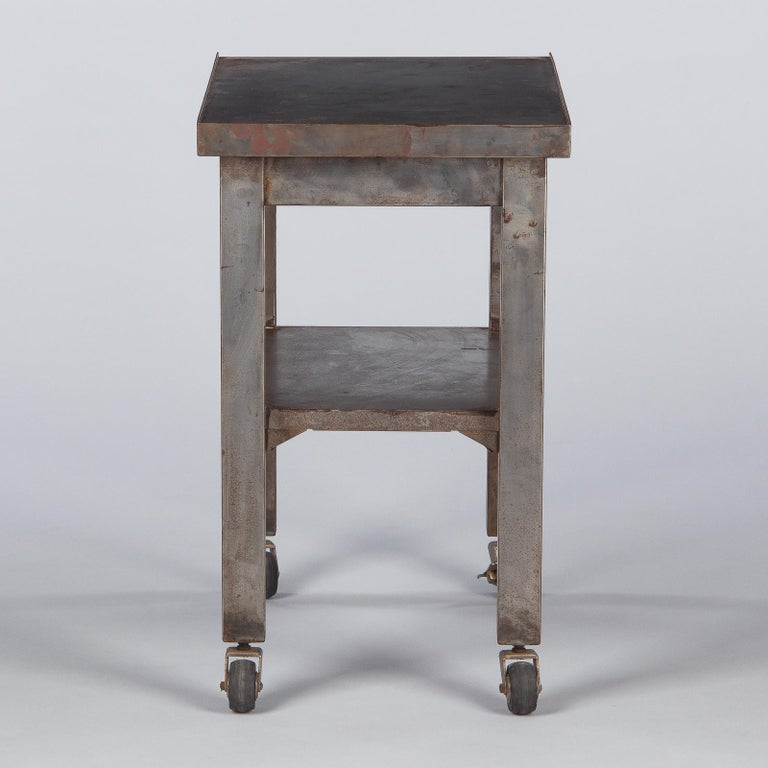 French Industrial Steel Working Table, 1950s For Sale 9