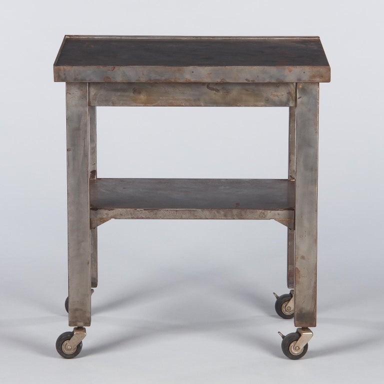 French Industrial Steel Working Table, 1950s For Sale 11