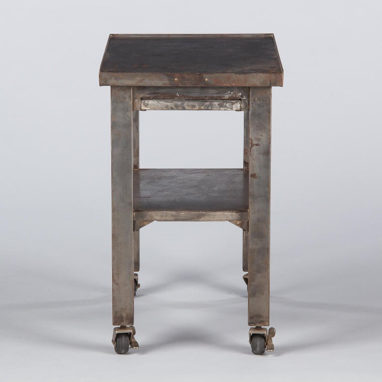 French Industrial Steel Working Table, 1950s For Sale 12