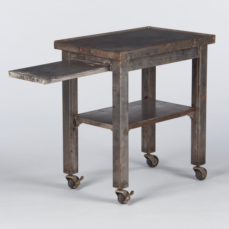 French Industrial Steel Working Table, 1950s For Sale 1