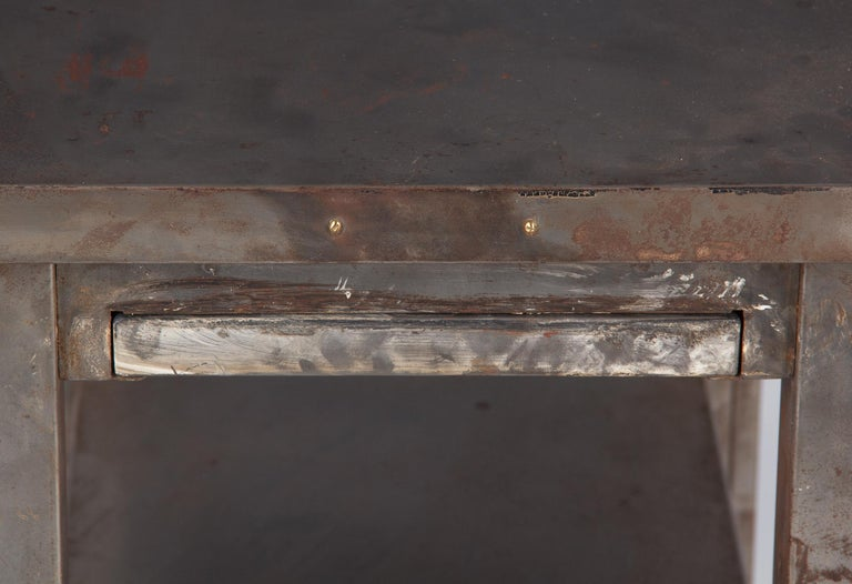 French Industrial Steel Working Table, 1950s For Sale 3