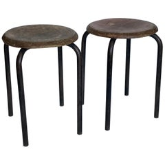 French Industrial Stools Ateliers Prouve, 20th Century