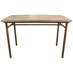 French Industrial Terrazzo and Steel Table