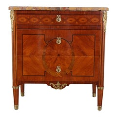 French Inlaid Louis XVI-Style Commode