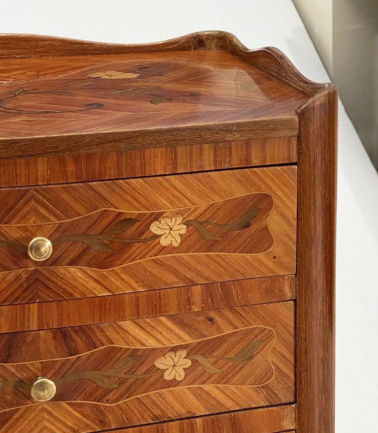 French Inlaid Nightstands or Bedside Tables 'Priced as a Pair' For Sale 5