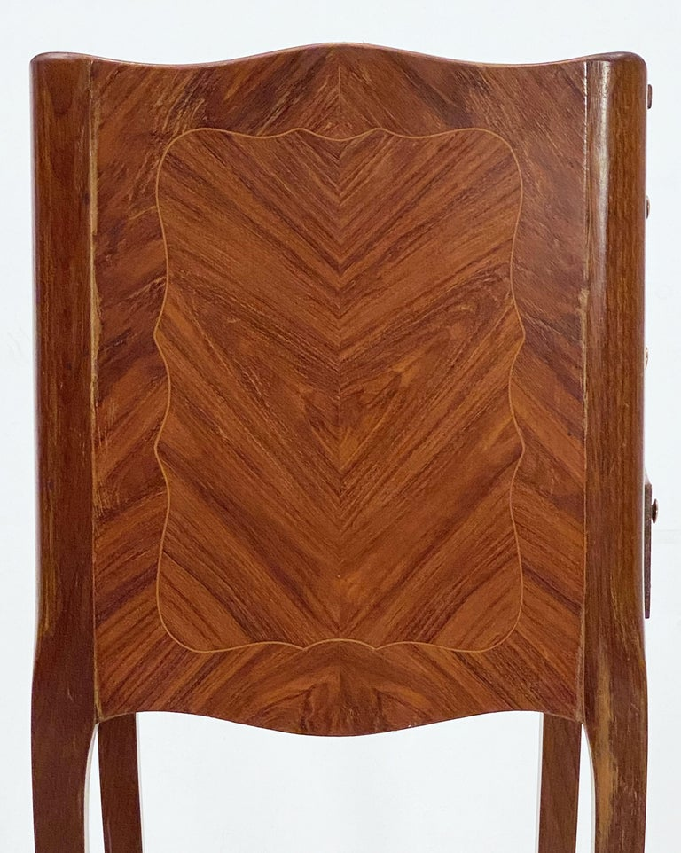 French Inlaid Nightstands or Bedside Tables 'Priced as a Pair' For Sale 10