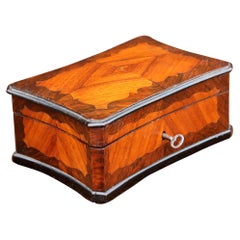 French Inlaid Rosewood Jewelry Box